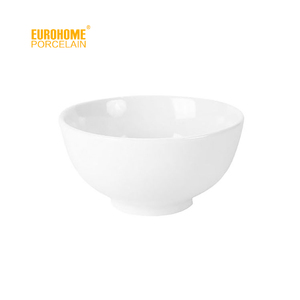 2016 promotion cheap hotel restaurant white porcelain salad bowl on ice