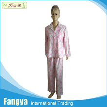 Promotional 100% cotton flannel pajama sets various cotton flannel pajama
