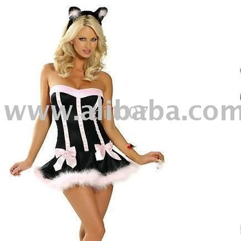 Fancy Dress Sexy Female Cat Girl Costume Outfit  sc 1 st  Alibaba : cat girl costumes  - Germanpascual.Com