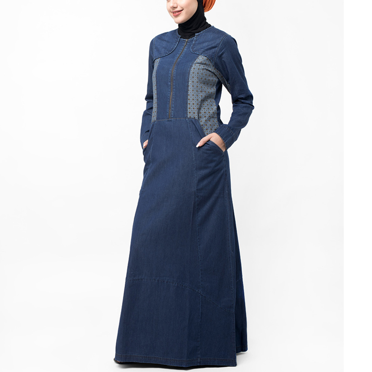 Denim Print Designs Muslim Women Dress Abaya Turkey Jilbab Pictures