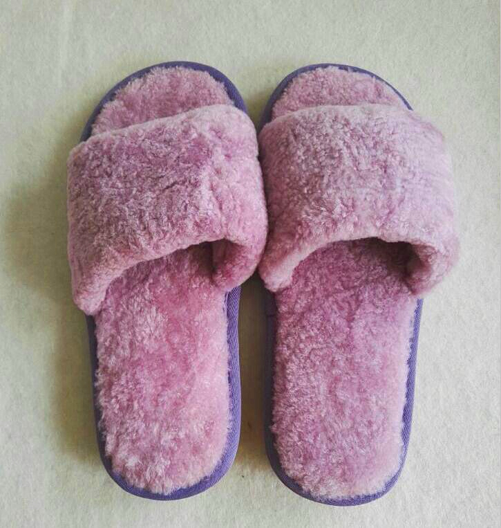 Top quality latest style open toe rabbit fur/ faux fur home indoor winter women slippers