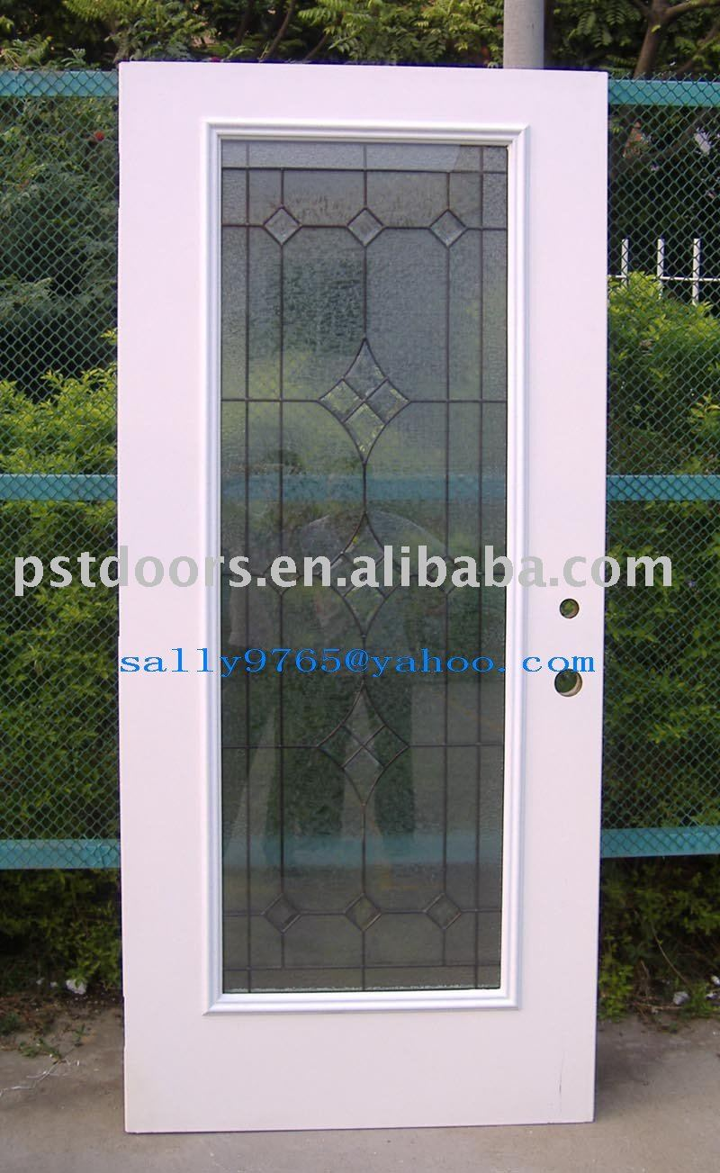 Exterior Glass Door(metal Door Panel,Full Lite Glass)   Buy Glass Steel Door,Steel  Glass Door,Pre Cut Out Steel Glass Door Product On Alibaba.com