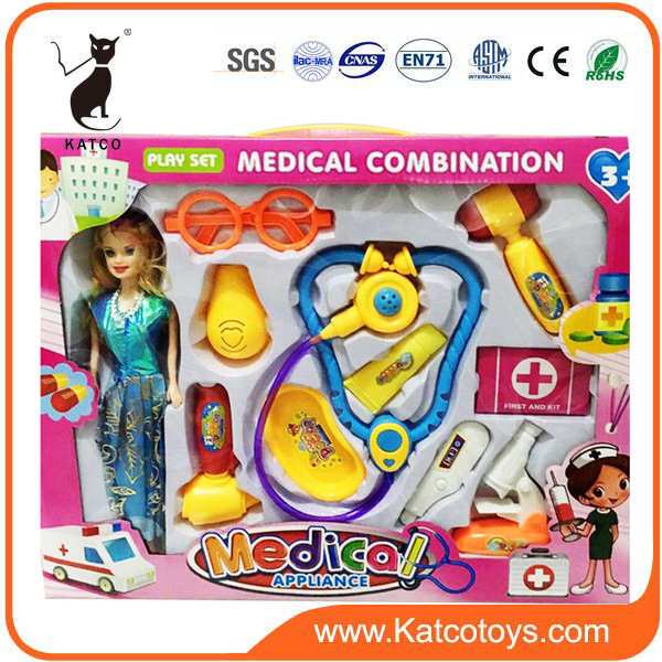 Good Quality And Hot Sale Plastic Doctor Toy Set For Children