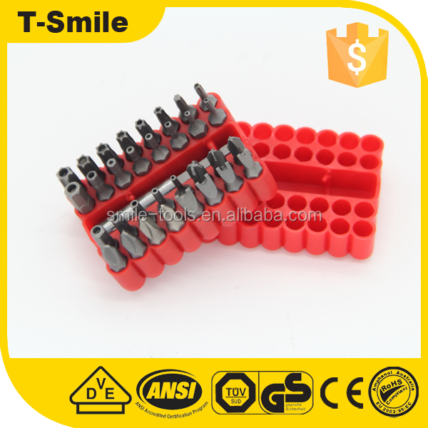 Heavy duty hex crv magnetic h type screwdriver bits