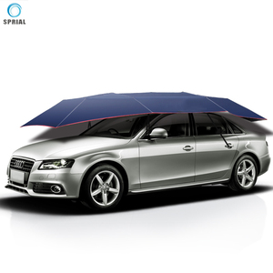 wind proof portable full automatic car sun shade umbrella cover with battery & remote