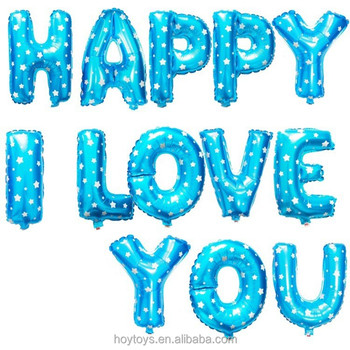 promotional blue color alphabet letter shape balloon