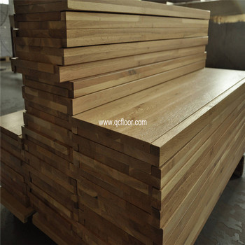 Indoor Used Wooden Staircase Solid Oak Stair Treads With Square Edge Exported To Usa Market