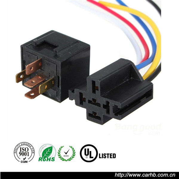 12 volt relay with wiring harness and socket - buy relay with ...  alibaba