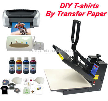 Best Quality import material : White Color T-shirt heat transfer paper (inkjet iron-on printing paper) for cotton fabric