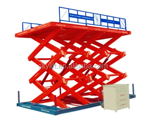 Stationary electric hydraulic used auto scissor lift