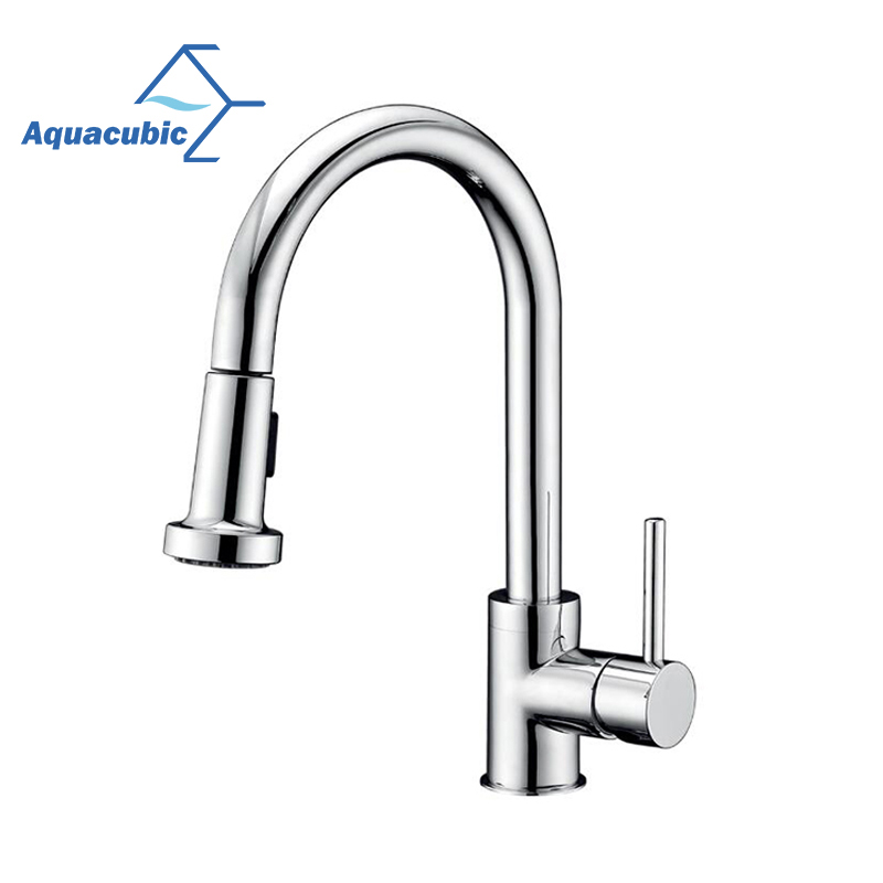 Aquacubic American Standard Brushed Nickel Pull Down Cupc Kitchen