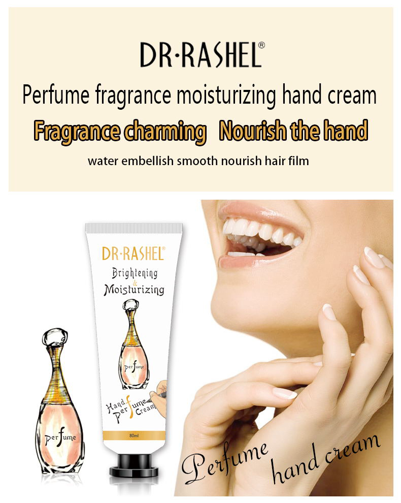 DR.RASHEL Hot Selling Natural Fresh Perfume Hand Lotion Brightening Moisturize Hand Cream