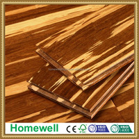 t&g system tiger stripe strand woven bamboo flooring