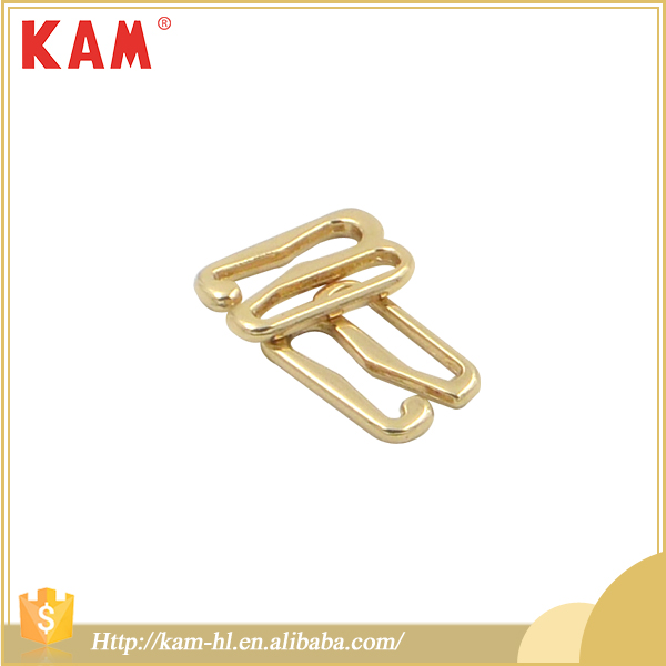 New design lemon gold metal adjuster swimwear bra clip accessories
