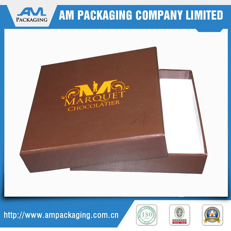 Custom logo printed chocolate boxes paper box packaging craft