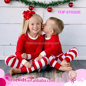 Kids Christmas Pajamas.Wholesale Kids Children Christmas Pajamas Boutique Boys And Girls Striped Matching Christmas Pajamas Buy Christmas Pajamas Kids Christmas