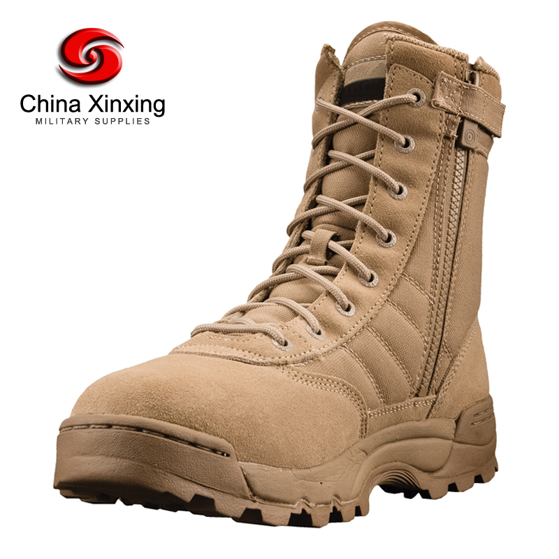 Xinxing Military desert swat boots khaki tactical army US.soldier polyester oxford rubber sole boots