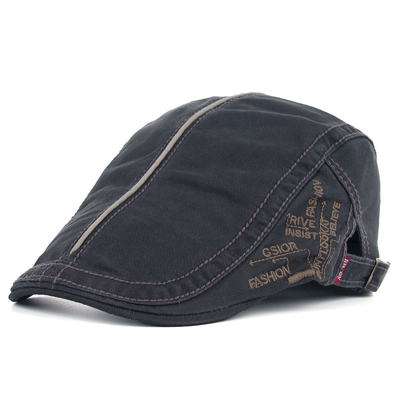Embroidered characters high quality multi-colors new fashion leisure sports flat caps hats