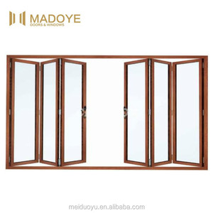 Residential interior used good soundproof Double glazed Aluminum frame bifolding door