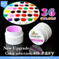 3688H Wholesale Nail Supplies Of Soak Off Color UV Gel 5ML 36 Colors UV Nail Paint