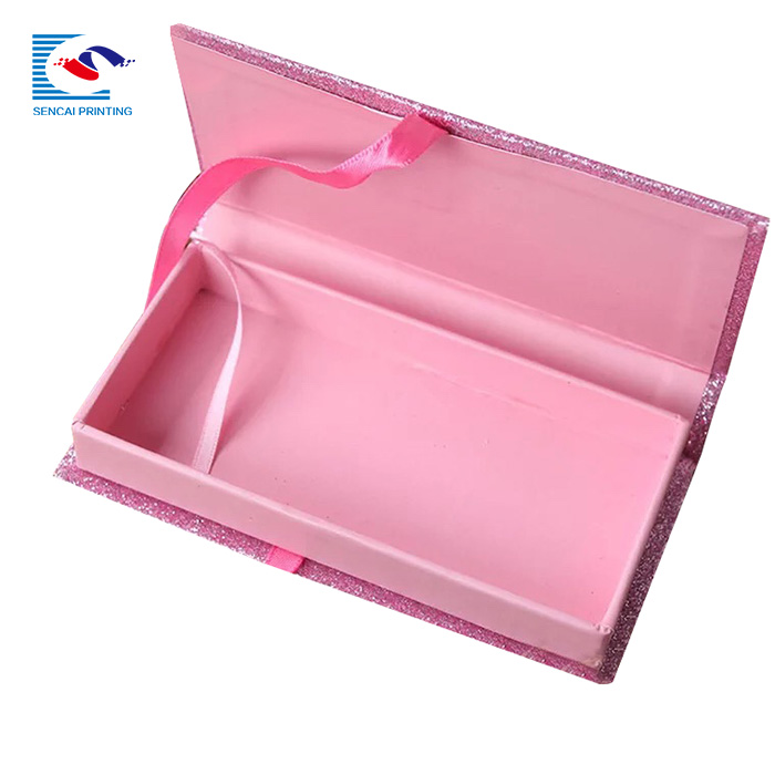 SENCAI wholesale customized coloful glitter paper empty eyelashes packaging box