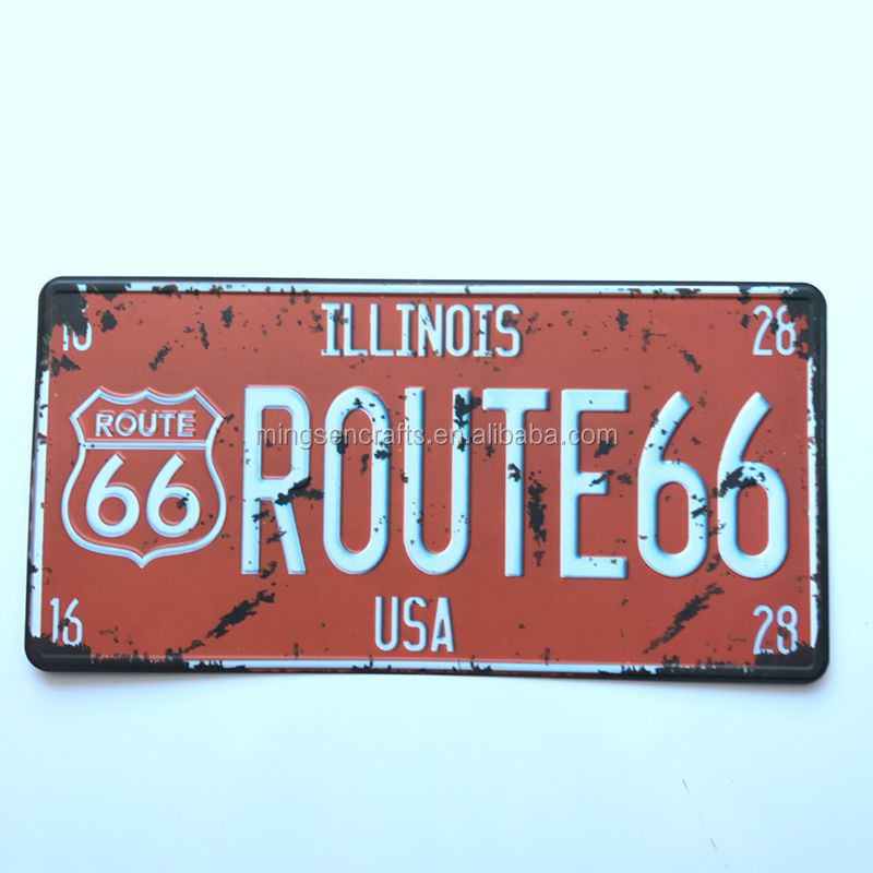 Custom Metal Signs Manufacturer Route 66 Embossed Car Plates - Buy Hide Car  Number Plate,Anti Number Plates,Blank Number Plate Product on Alibaba com