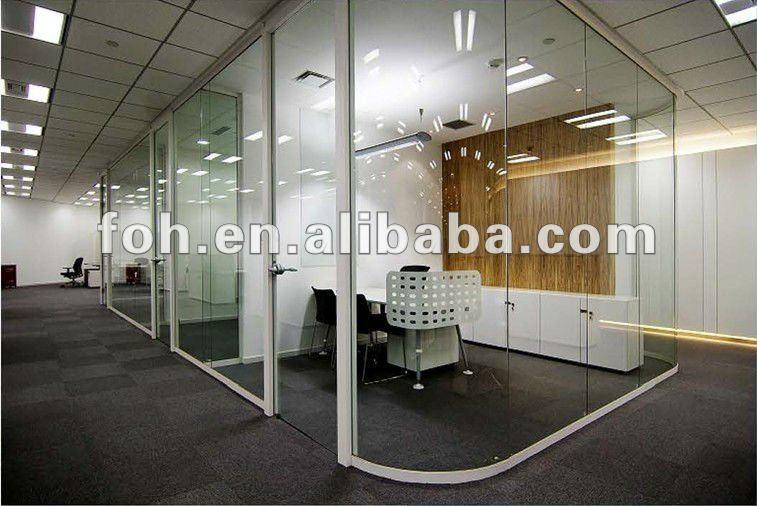 Ontwerp decoratieve muur partities glazen kantoor kamer muur verdelers foh 023 kantoor - Partition kamer ...