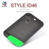rechargeable battery key for Renault Laguna smart card 2 Button 433MHz 4D46 AK010003