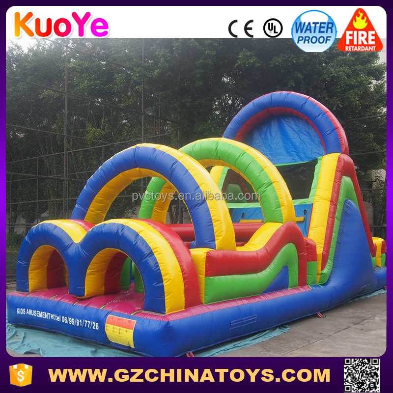 guangzhou cheap mini small inflatable obstacle challenge for kids