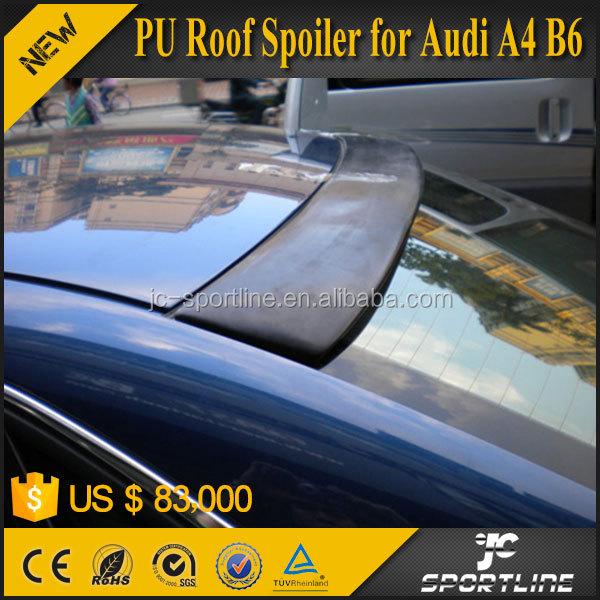 Unpainted For Audi A4 B6 V-Style Rear Roof Spoiler Wing Sedan 02-05