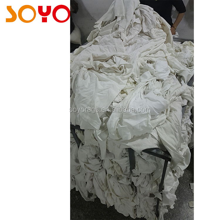good wipe company quality 100% cotton soft tshirt rags white wiping rags sale for usa