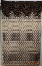 Decor home indian style jacquard sheer curtain with valance