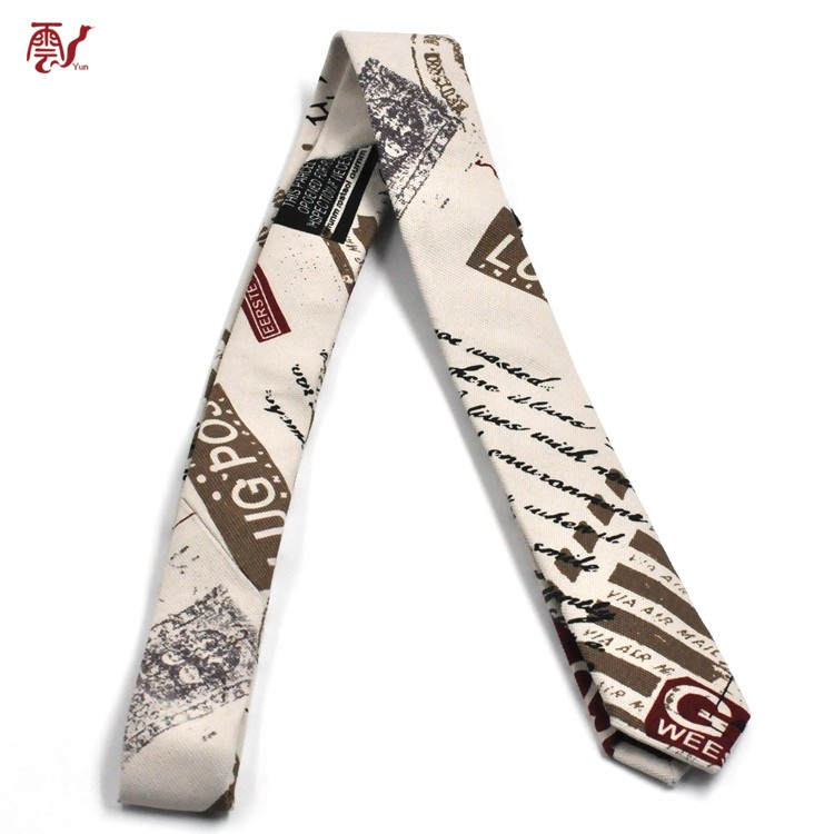High Quality Custom Digital Print Cotton Mens Neck Tie