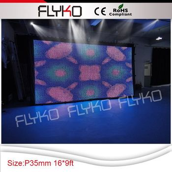 Flykostage P35MM lights disco led backdrop