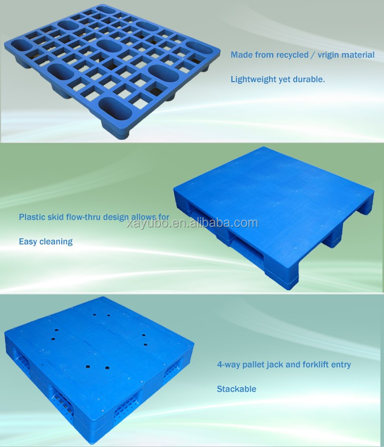 Good reputation colored double sides steel reinforced plastic pallet