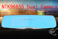4.3 inch screen fhd1080P NTK96650 dual camera car video recorder rear view camera for cars