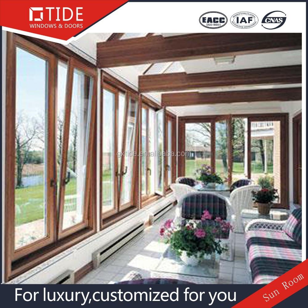 Lusso temperato vetro isolante casa/casa verde veranda/legno sala ...