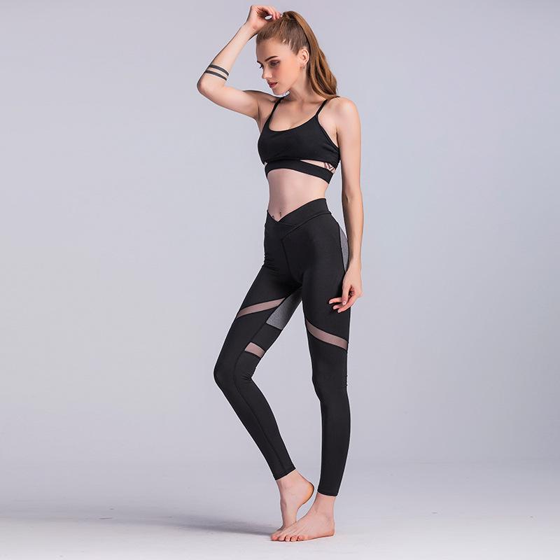 Women Yoga Pants Power Flex Sport Pants Active Stretch High Waist Workout Running Yoga Leggings 7
