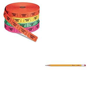 KITPMC59002UNV55400 - Value Kit - Pm Company Admit One Single Ticket Roll (PMC59002) and Universal Economy Woodcase Pencil (UNV55400)