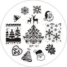 Christmas XMAS Theme Nail Art Stamp Template Image Plate BORN PRETTY BP01