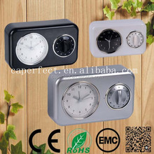 wall or table alarm quartz clock with timer