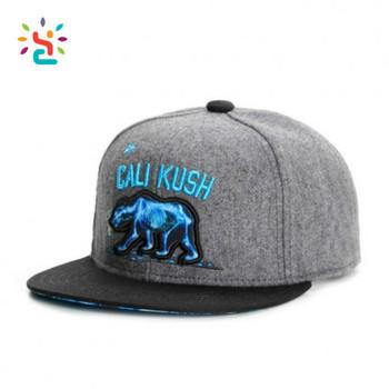 Flat Embroidery Brim Snapback Hats