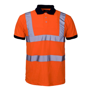 all orange breathable dry fit work polo shirt