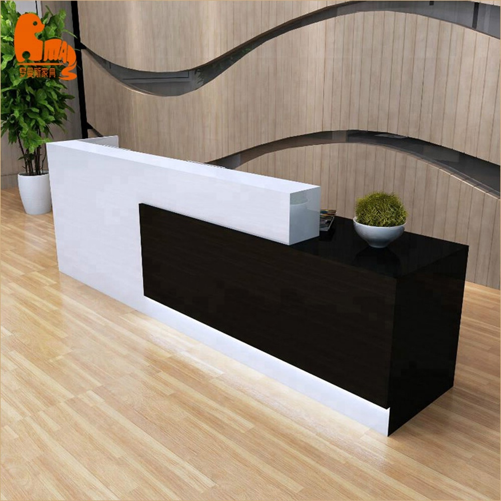 Popular design modern white curved reception table custom 10 person  reception counter with logo, View reception desk, LUOMANS Product Details  from