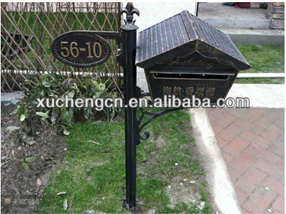 Aluminum mailboxes with door number