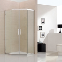 Straight Tempered Glass locker bath room shower