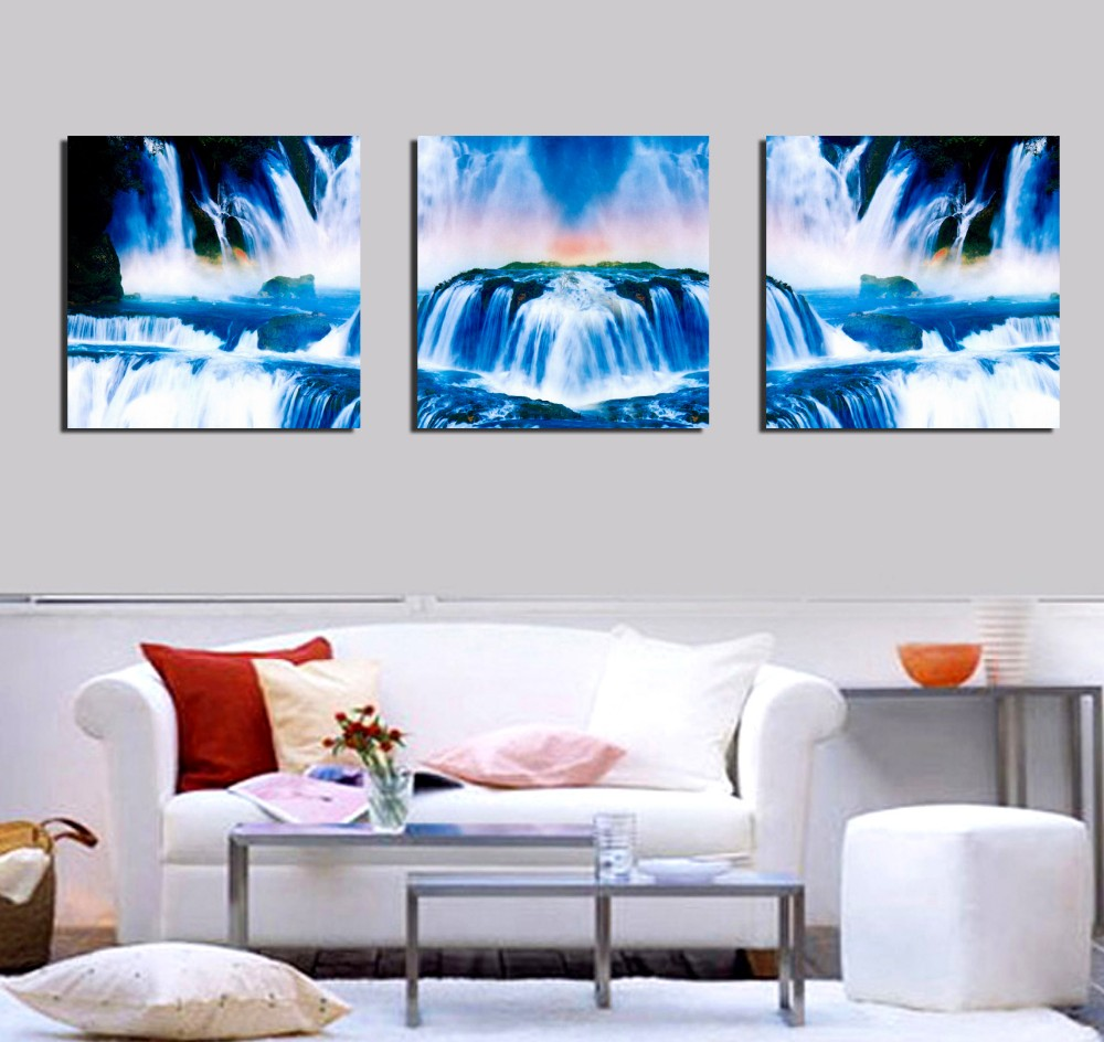 Home Goods Wall Art home goods wall art canvas chinese waterfall landscape paintings