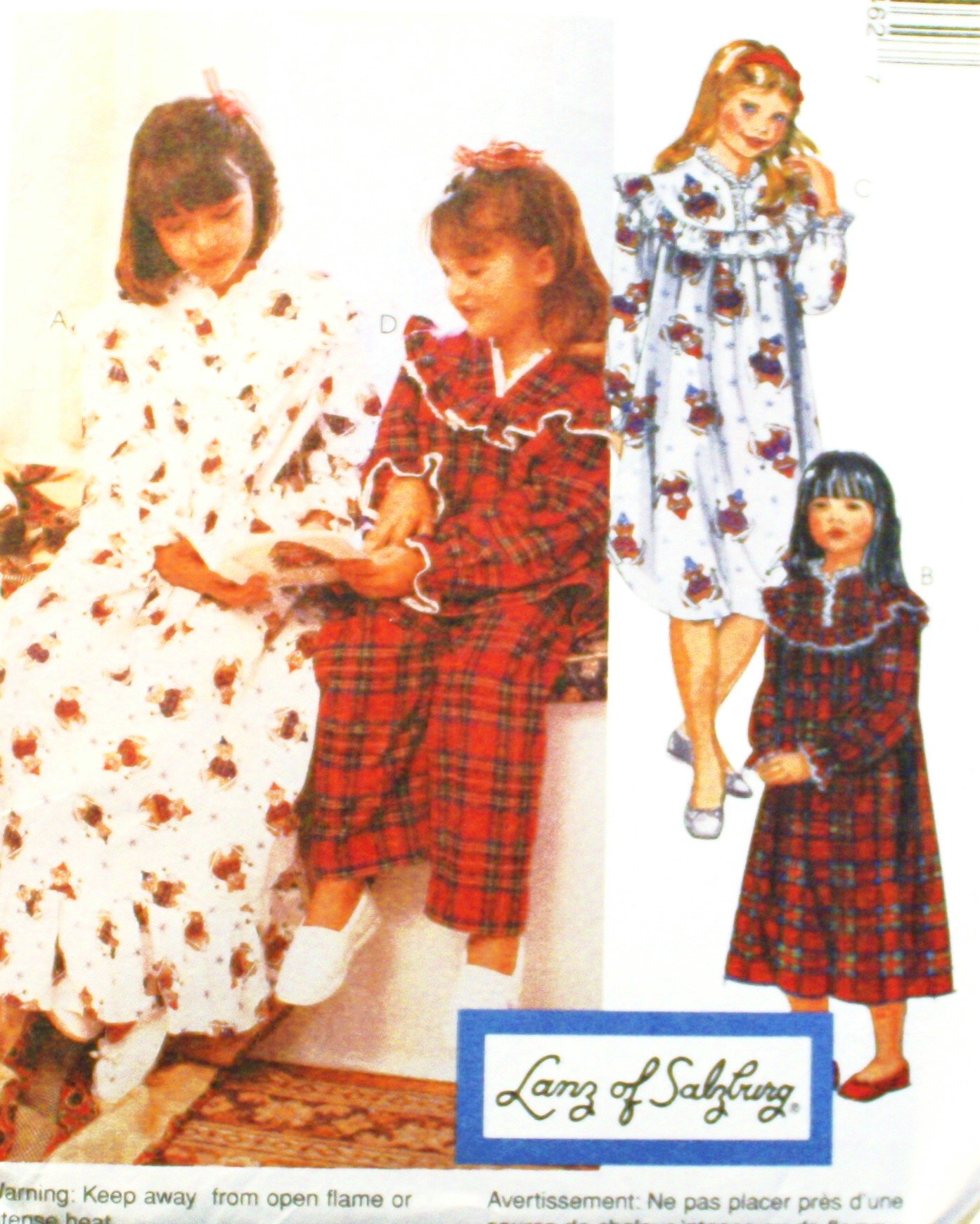 Lanz of Salzburg Red Tyrolean Pajamas for Girls. 17.55. null. Get  Quotations · OOP McCall s Pattern 8546. Girls Szs 7 8  8 10  12 fd5660336