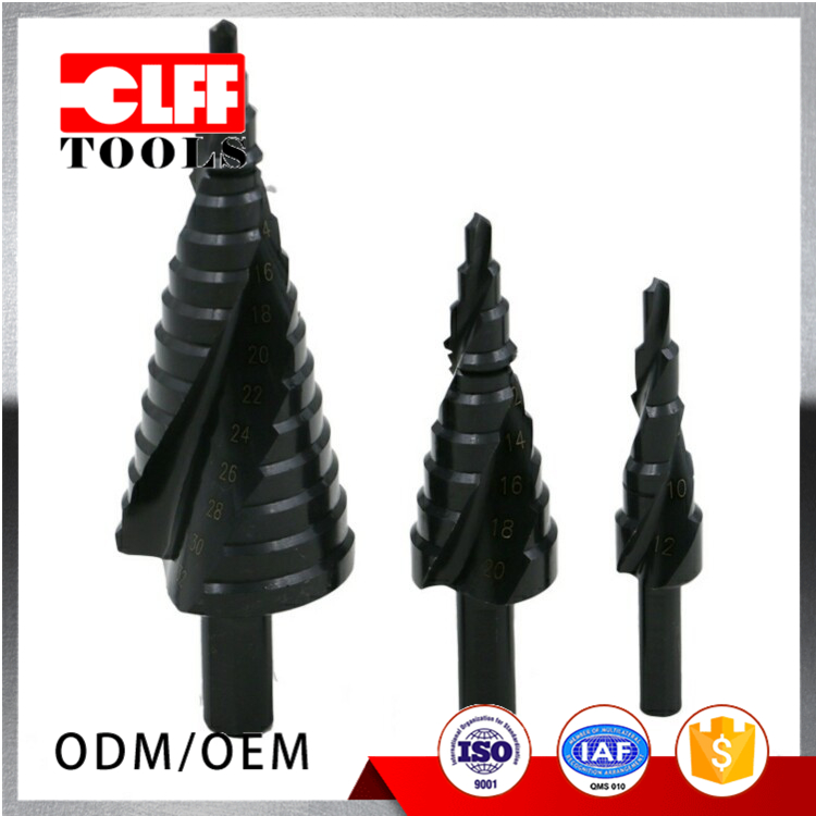 High speed steel Industrial Spiral Grooved containing nitrogen Step Drill Bit