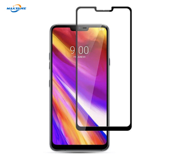 Maxshine Mobile Phone 2.5D Security Silk Print Tempered Glass Screen Protector For Lg G8